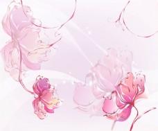 浪漫花卉背景墙