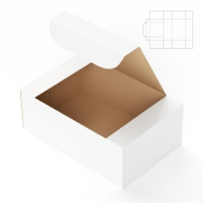纸盒效果图和钢刀线图片