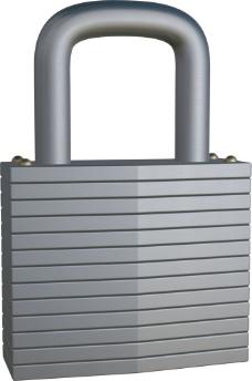 灰色立体锁模型图片