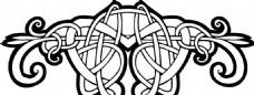 凯尔特人的装饰品 花纹矢量元素