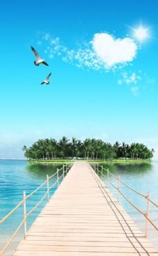 玄关木桥海岛