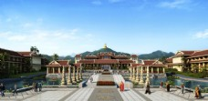 佛教旅游度假区效果图