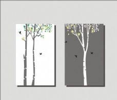 简约 发财树 装饰画 无框画