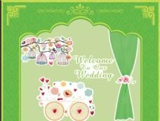 婚礼背景  拱门
