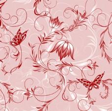 矢量欧美创意背景花纹图案