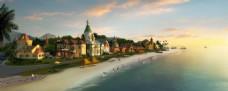 海边小镇效果图
