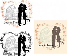 硅藻泥花紋  熱戀中的情侶