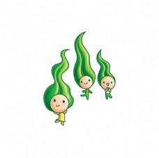卡通  儿童  豆子  分层
