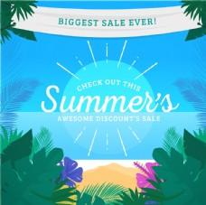 夏季热带景观销售背景