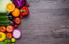 蔬菜与木板