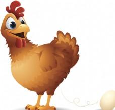 下蛋卡通鸡