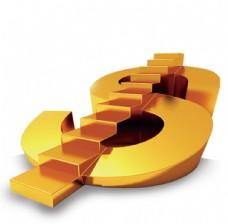 金色钱币阶梯