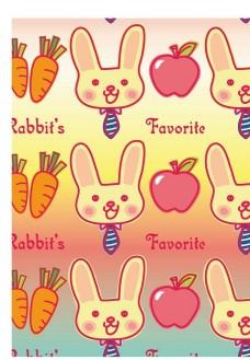 卡通小兔背景底纹