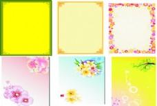 黄色花纹展板