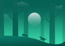大灰狼追小兔子