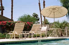 度假,度假,酒店,度假村,老,泳池,躺椅,躺椅