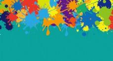 彩色喷溅背影
