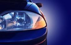 藍色酷炫車燈圖片