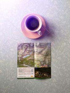 咖啡,杯,旅行,旅行,旅行,旅程,地图,旅行,咖啡,杯