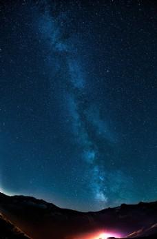深蓝色浩瀚银河系行星高清