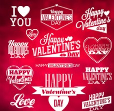 情人节标签  情人节海报