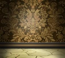 复古欧式花纹背景图片