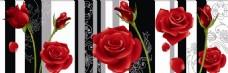 红色花朵装饰画